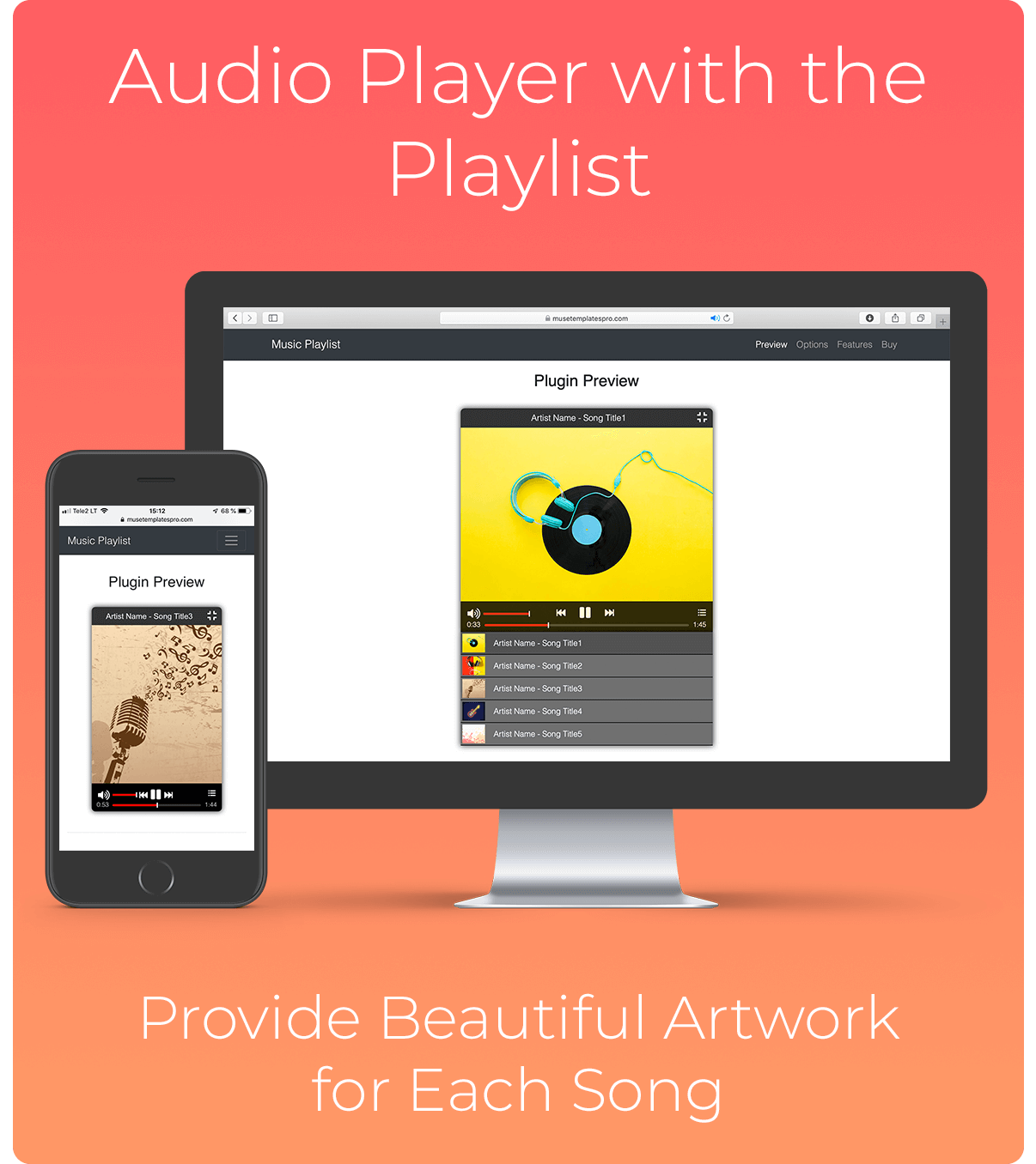 Music Playlist jQuery Plugin