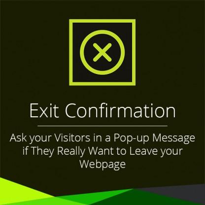 Exit Confirmation