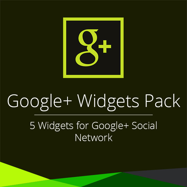 Google+ Widgets Pack for Adobe Muse