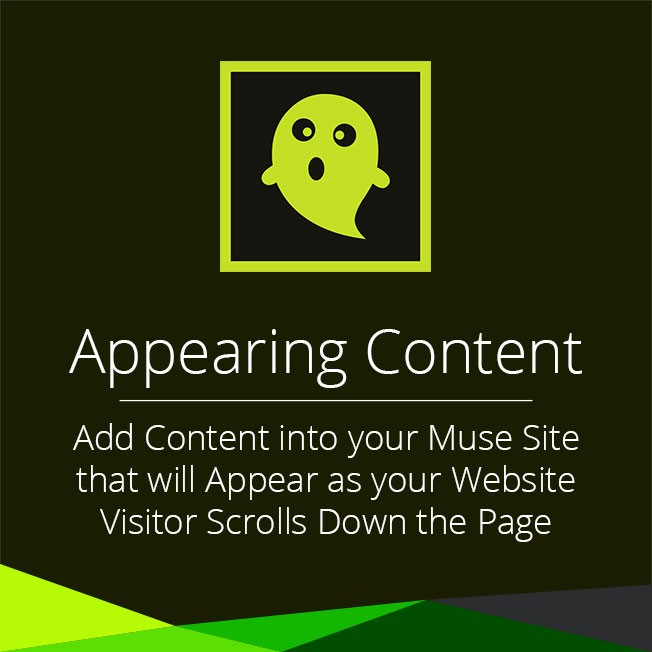 Appearing Content Widget