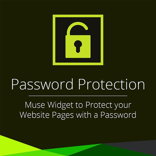 password protection adobe muse widget